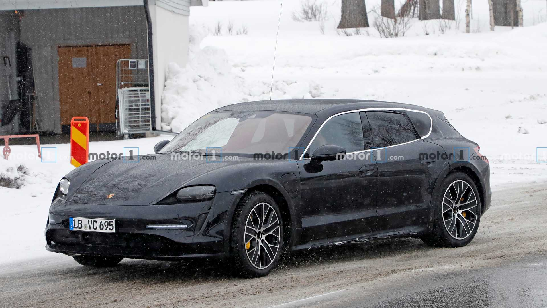 Porsche Taycan Cross Turismo Spied Cold Weather Testing In Sweden Drive Tesla Canada