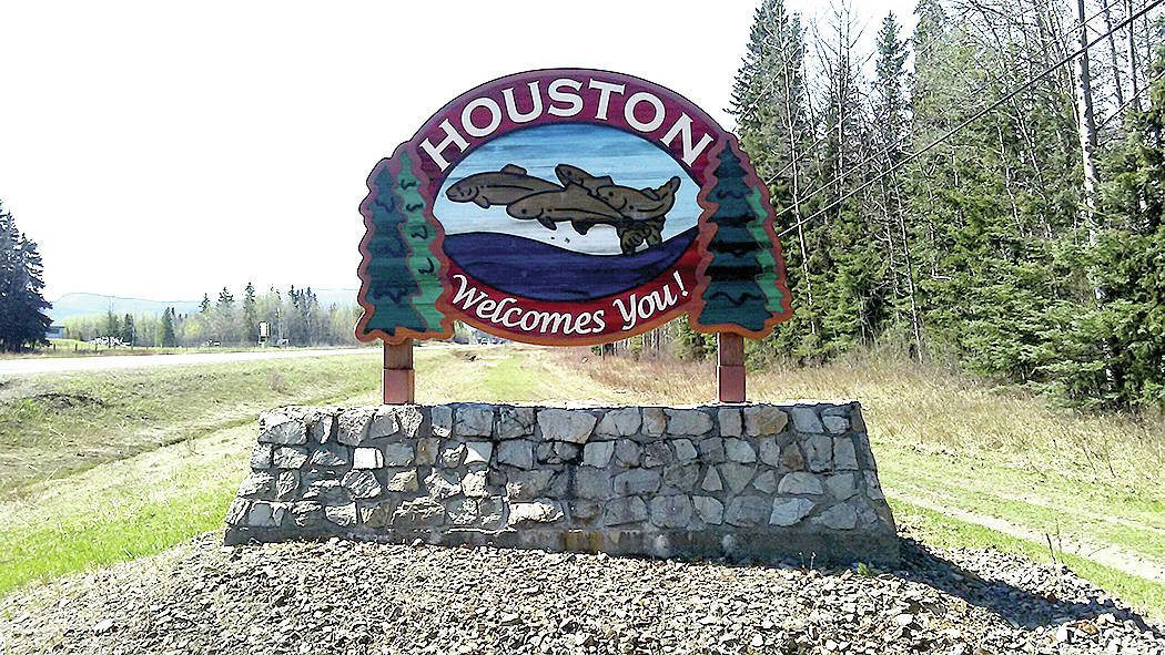 Houston British Columbia welcome sign