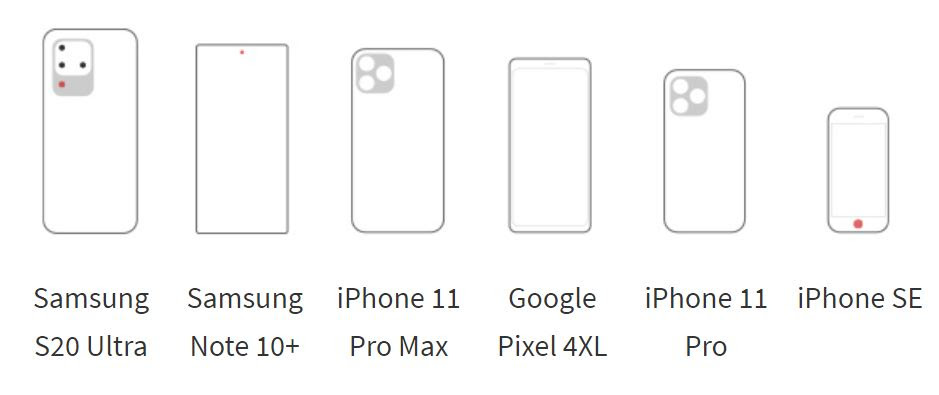 Jeda V3 charging pad sizes