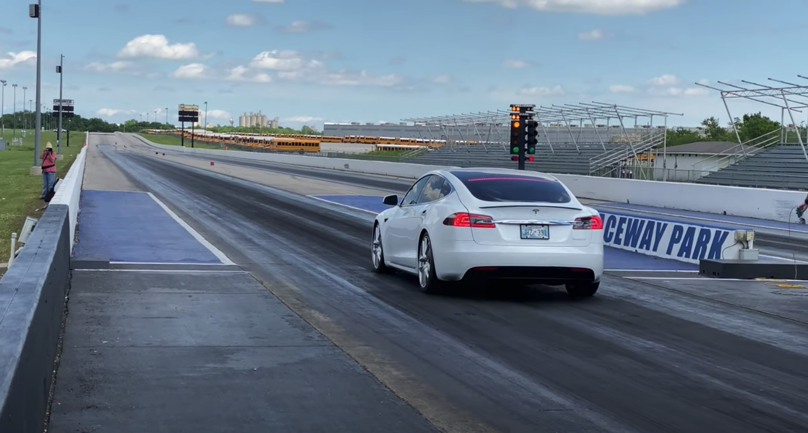Tesla Model S quarter mile record