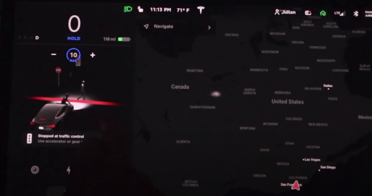 Tesla new driving visualizations pedestrian