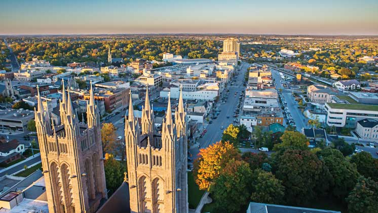 Aerial view of Guelph