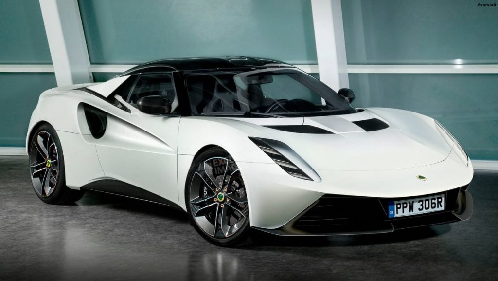 Electric Lotus sports car