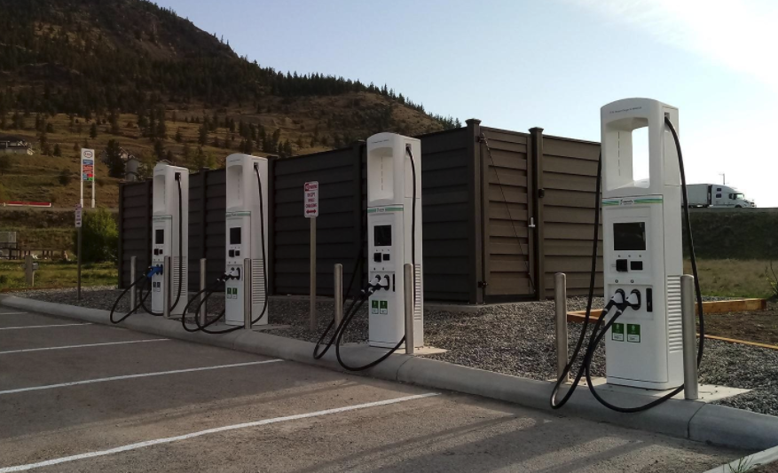 Electrify Canada charger in Merritt BC