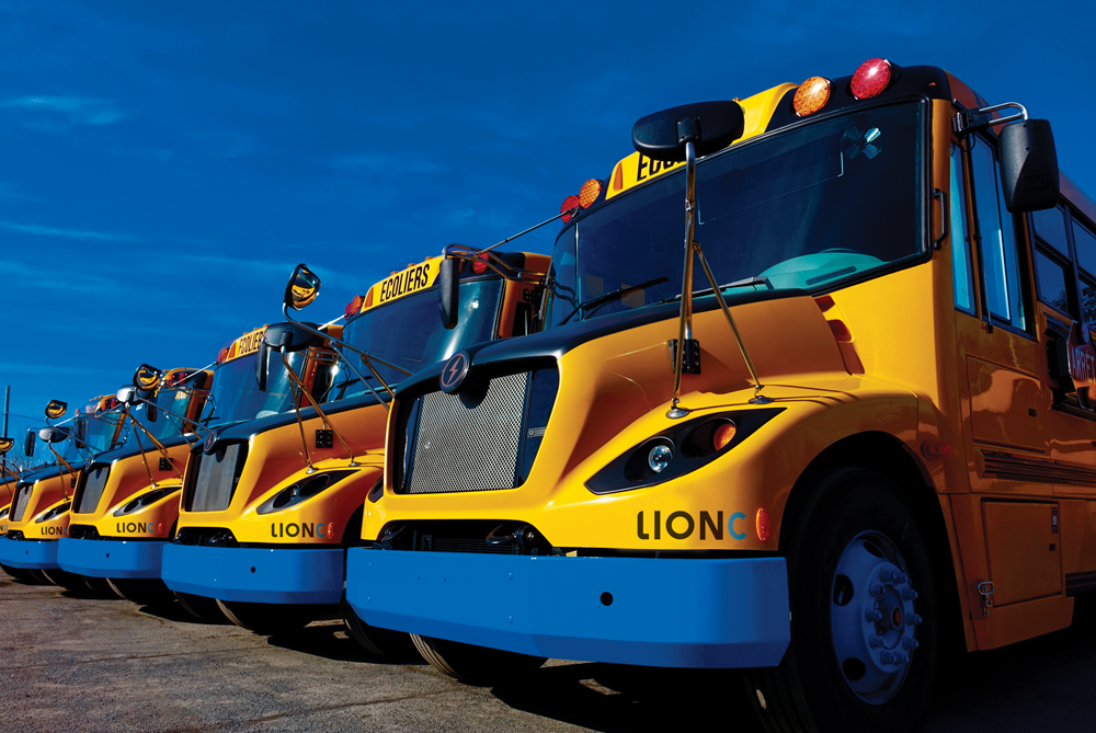 Quebec electric school bus Lion