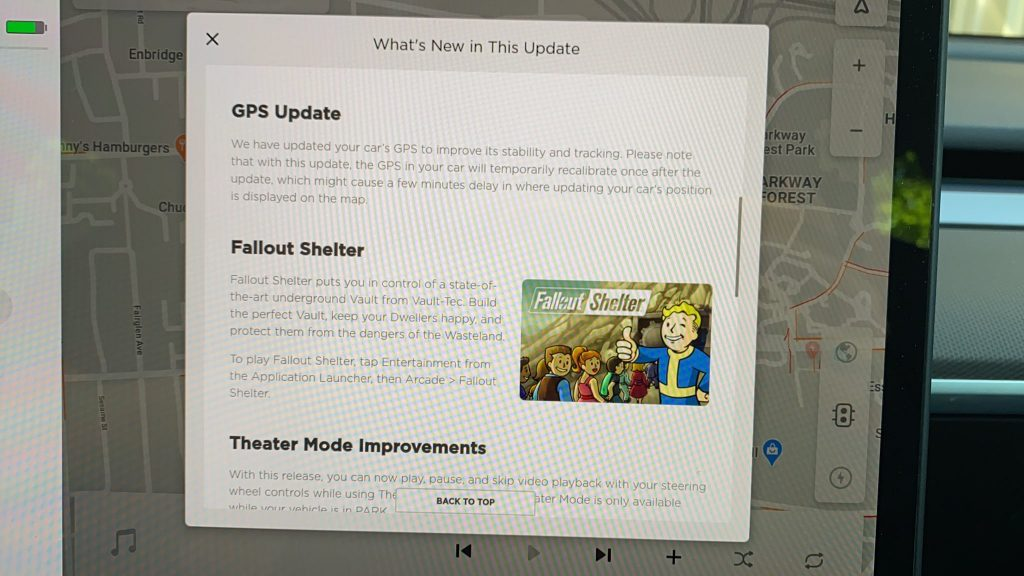 Tesla 2020.20.13 software update release notes 3