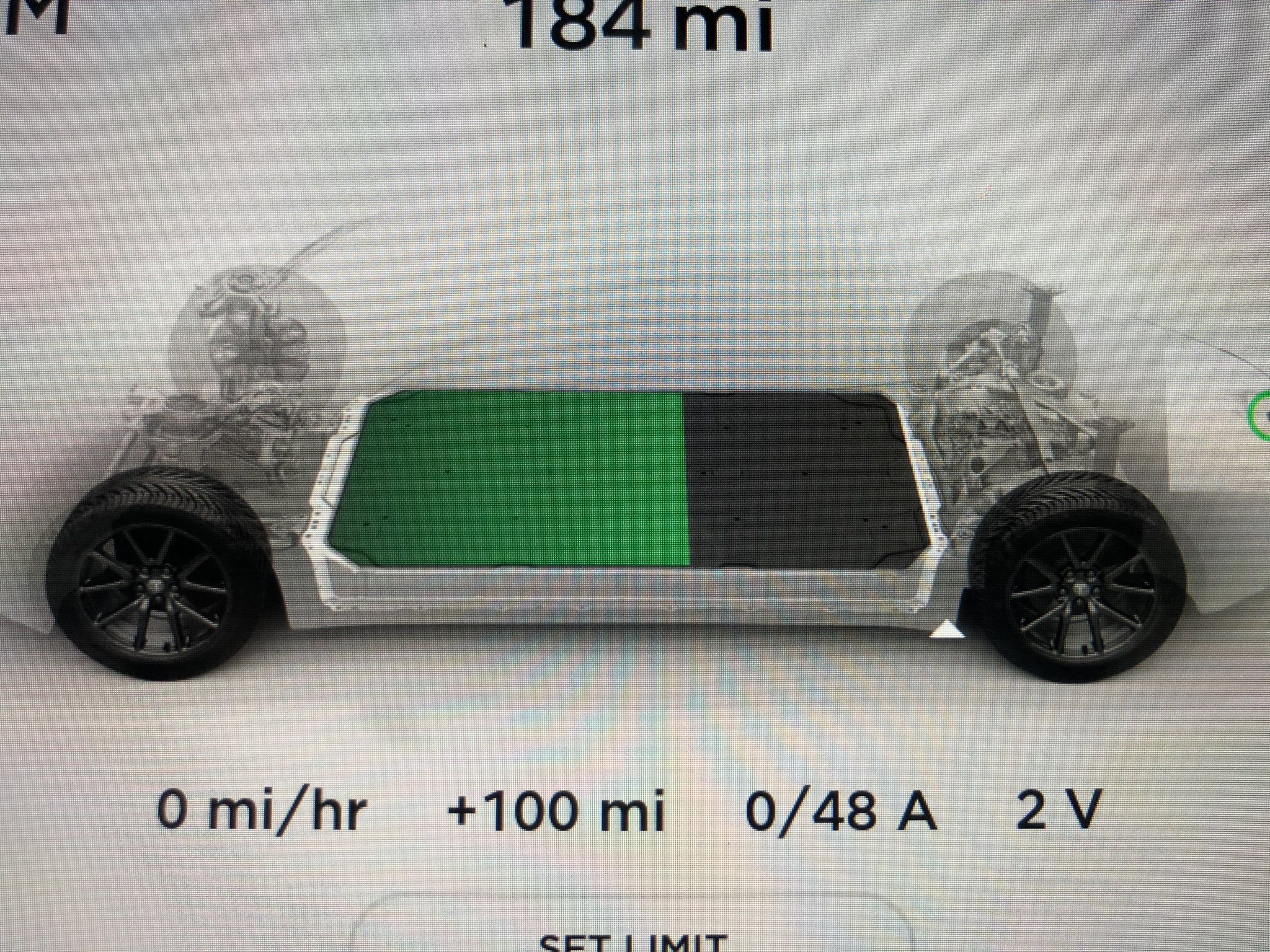 Tesla Model 3 avatar without aero covers charging