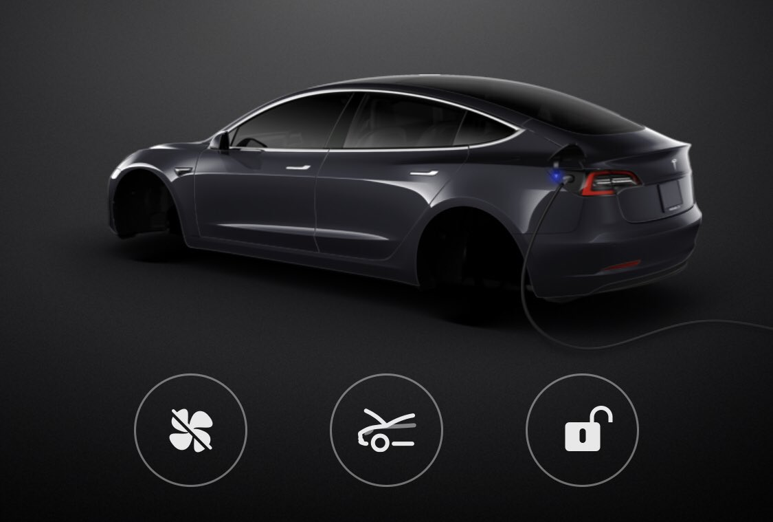 Tesla Model 3 avatar without aero covers missing