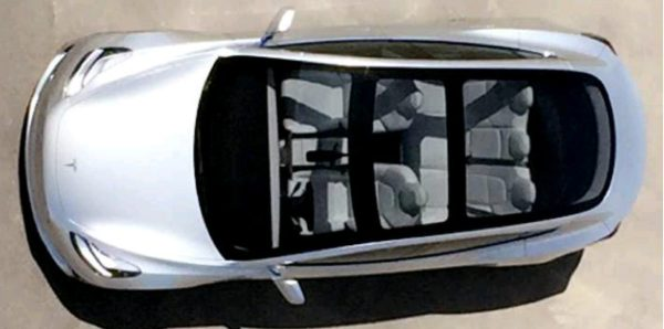 Tesla Model 3 glass roof