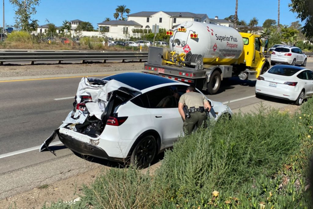 Tesla Model Y hit and run