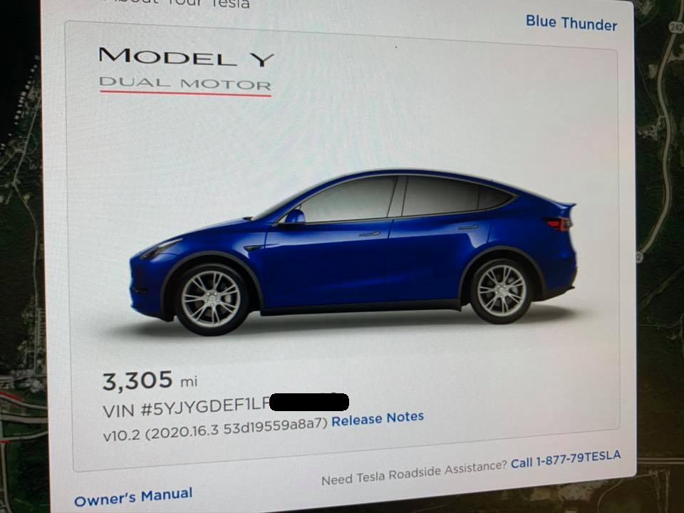 Tesla Model Y visualization with Geminis
