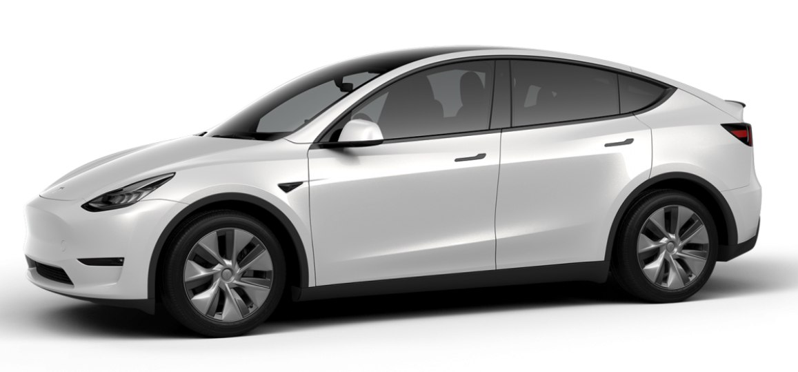 Tesla Model Y with Gemini covers