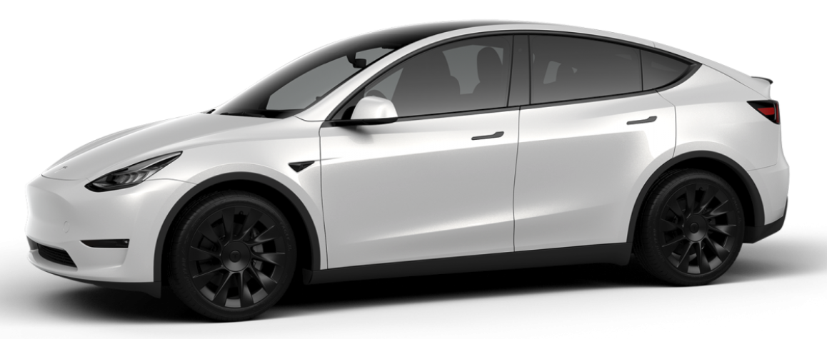 Tesla Model Y with Induction