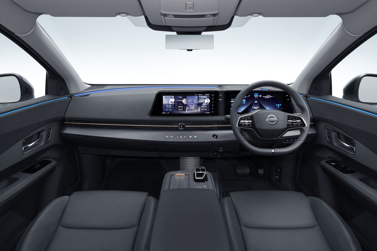 ARIYA Interior Image_ Hands off drive mode view 1_revised-1200x800
