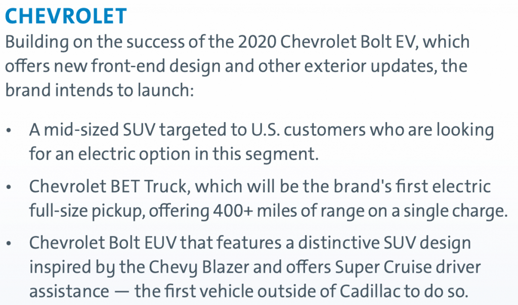 Chevy Sustainability Report