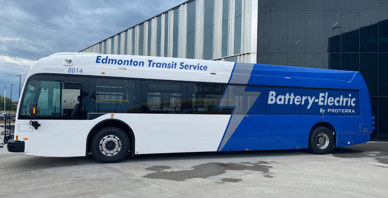 Edmonton Transit Proterra electric bus
