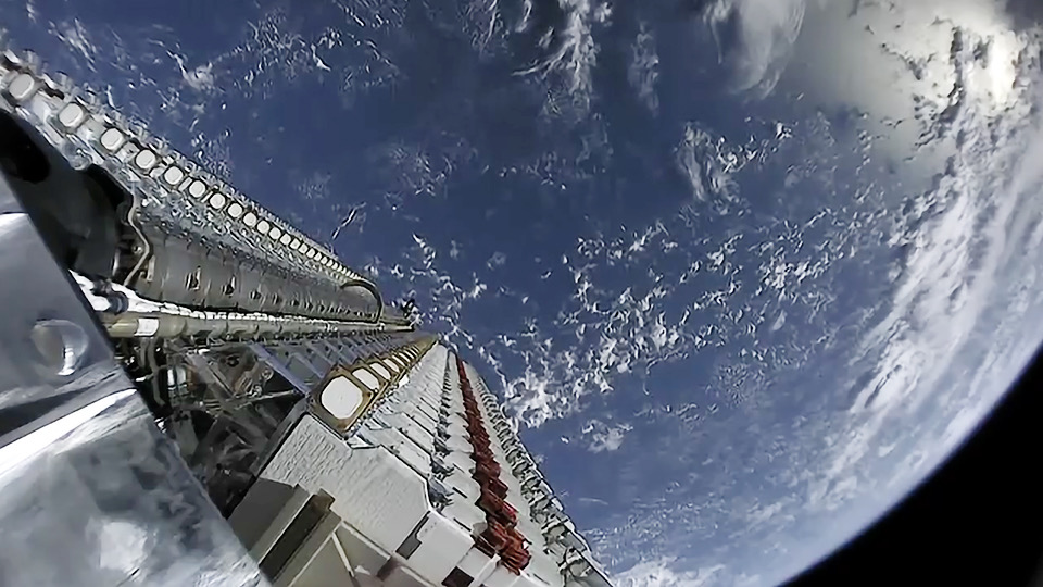 Starlink satellite in space