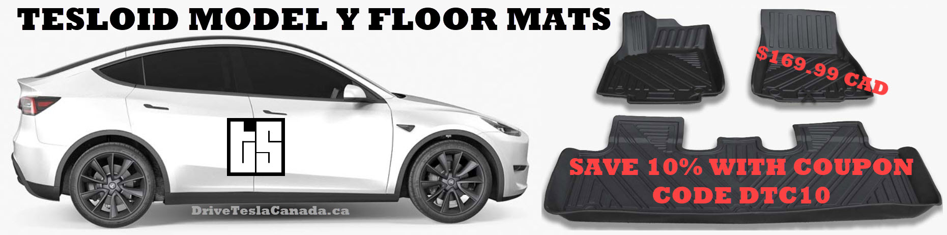 Tesloid Model Y floor mats with coupon code