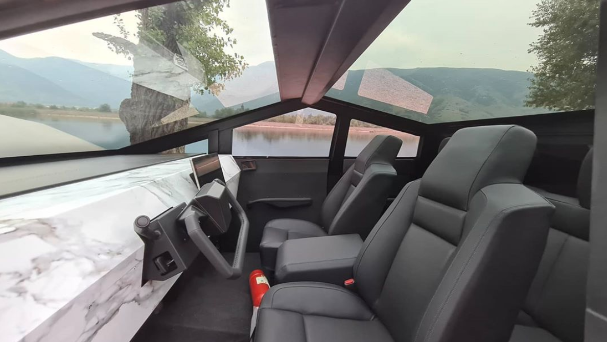 Cybertruck replica interior