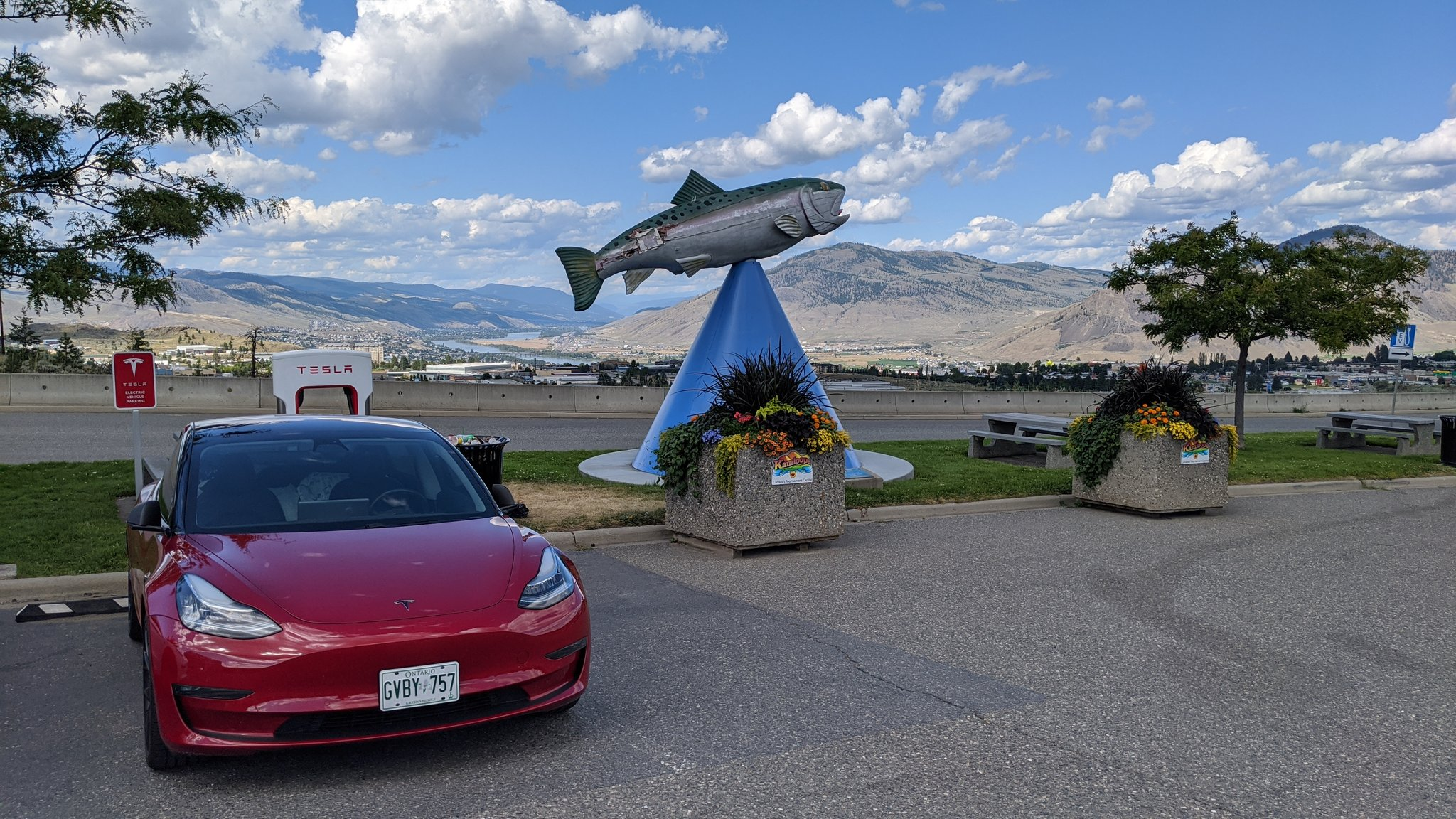 Kamloops Tesla Supercharger