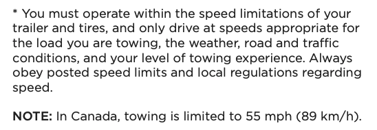 Model Y towing owners manual