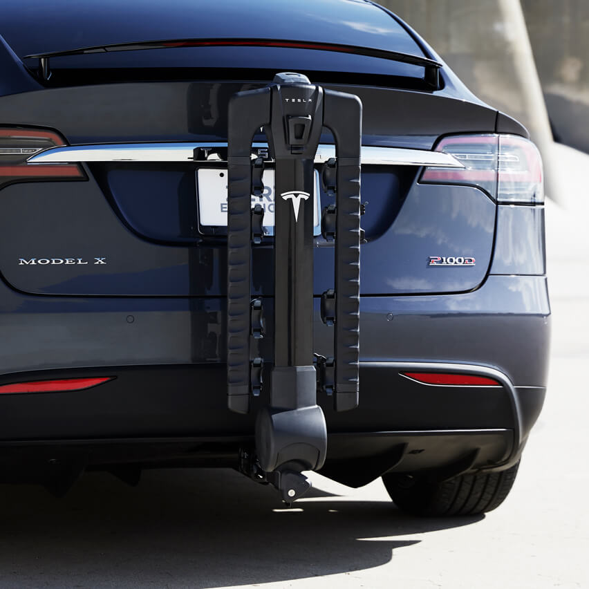 Tesla Model X hitch rack