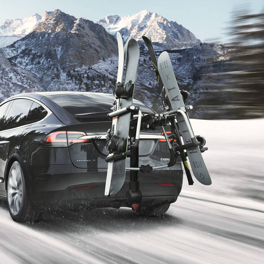 Tesla Model X ski snowboard carrier
