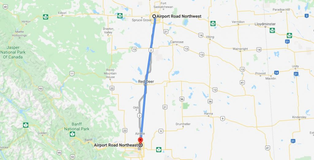 Transpod Hyperloop Route Alberta