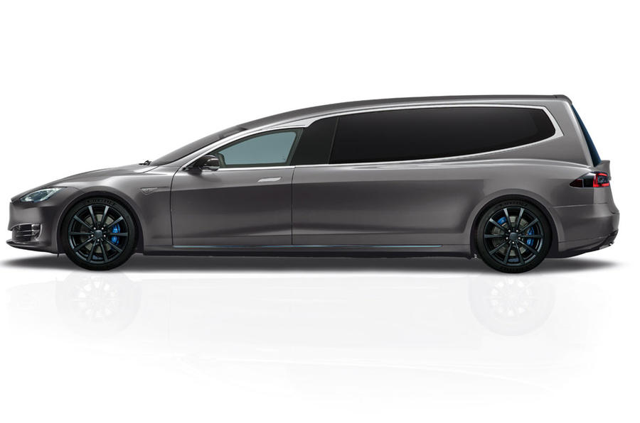 Tesla Model S hearse by Blinza