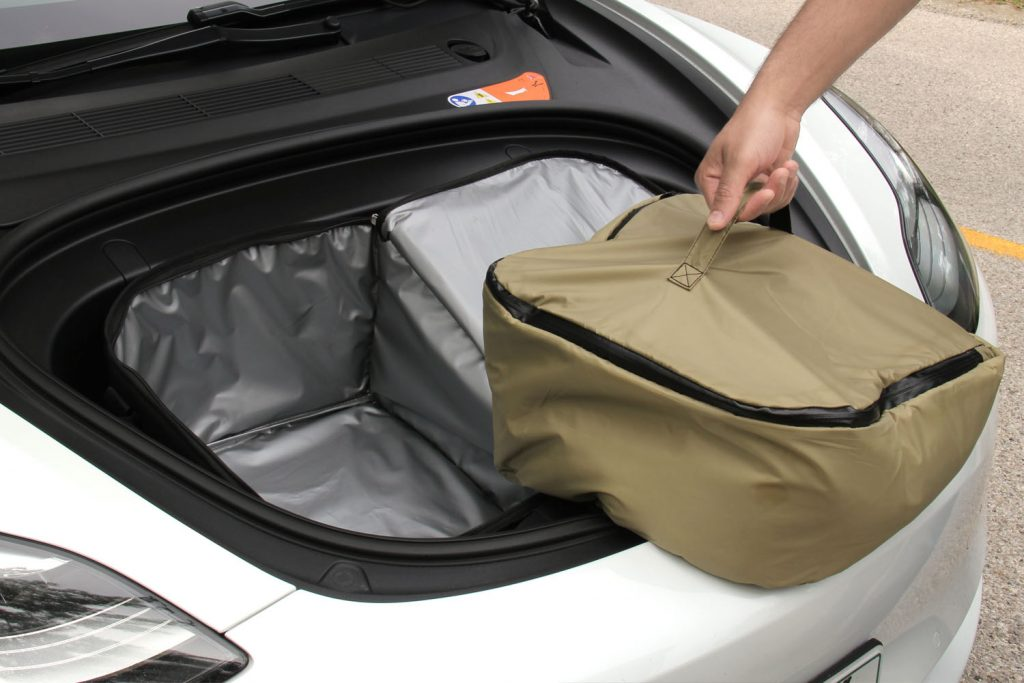 tesloid model 3 frunk cooler ice bag