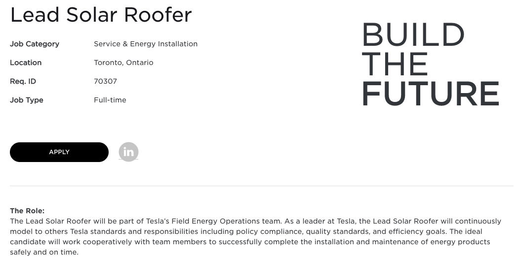 Lead Solar Roofer Canada
