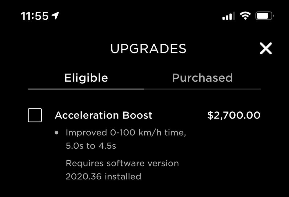 Model Y acceleration boost