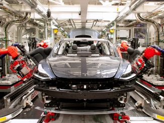 Tesla Model 3 on manufacturing line