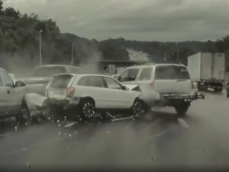 TeslaCam highway crash