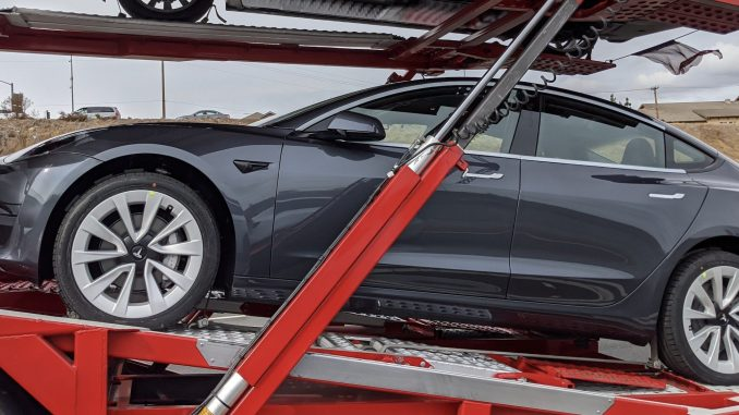 New Tesla Model 3 Stiletto wheels