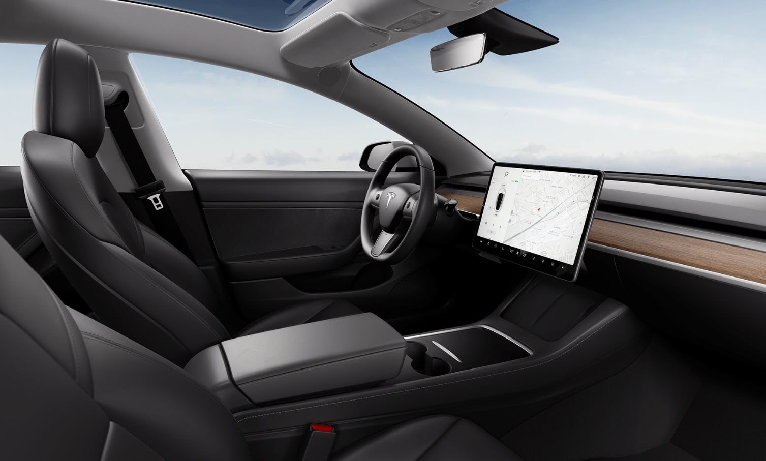 New Tesla Model 3 console