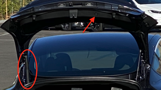 New Tesla Model 3 power trunk
