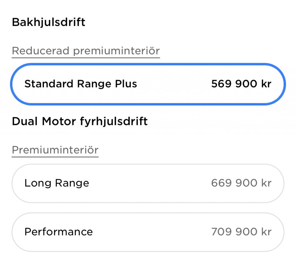 Sweden prices after