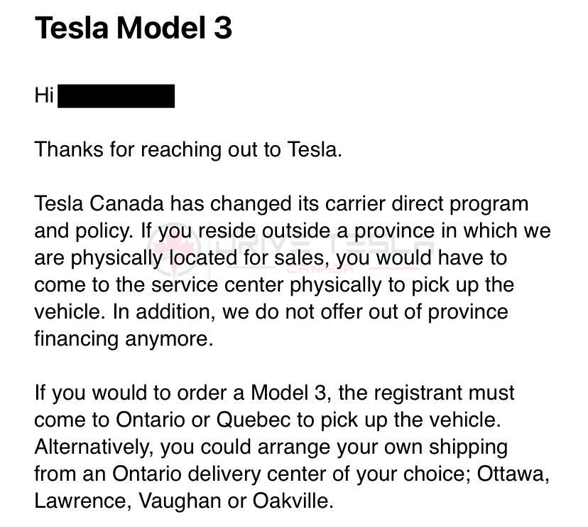 Tesla-Carrier-Direct-policy