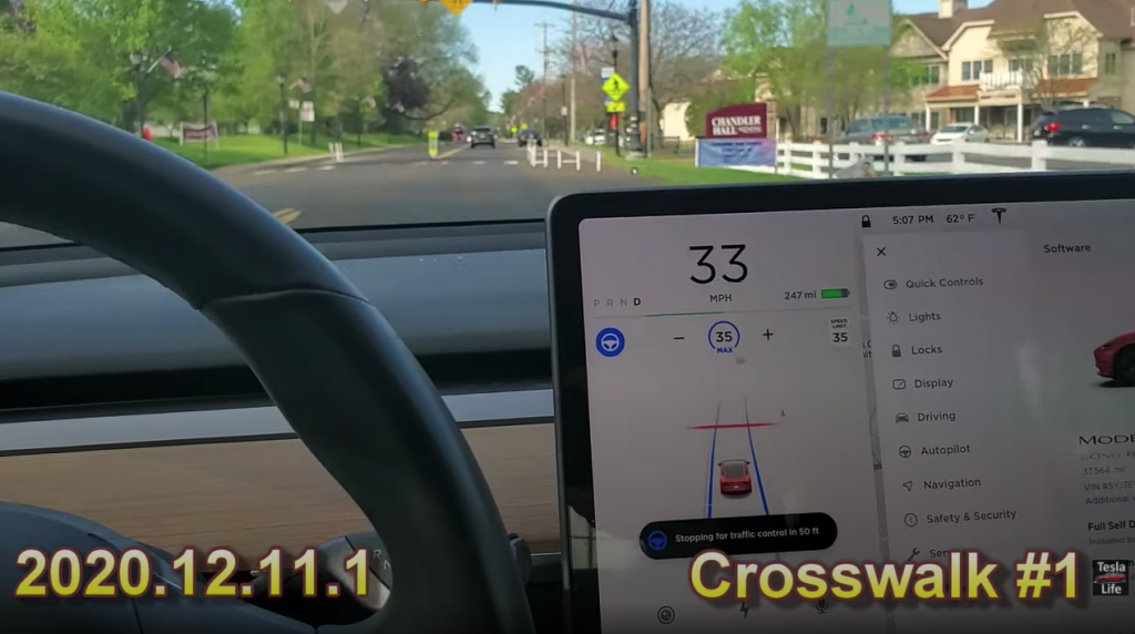 Tesla Life crosswalk video