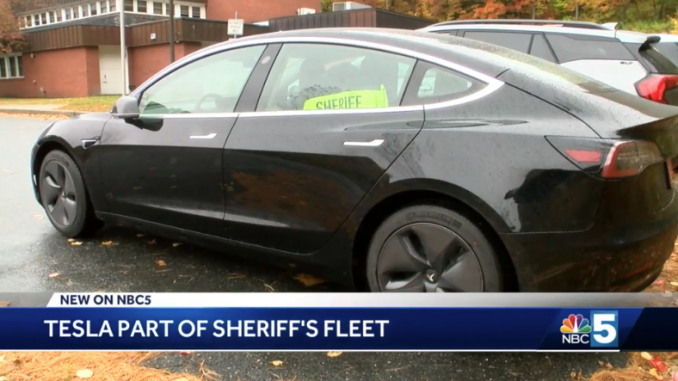 Tesla Model 3 Vermont sheriff