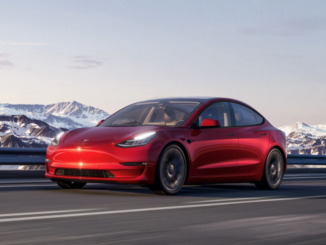 Tesla Model 3 mountains