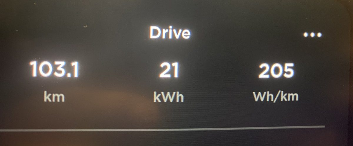 Tesla Model Y efficiency