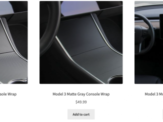 Tesloid center console wraps