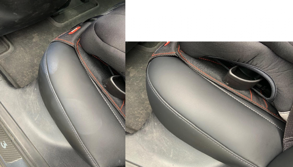 TesBros eco detailing kit before after interior