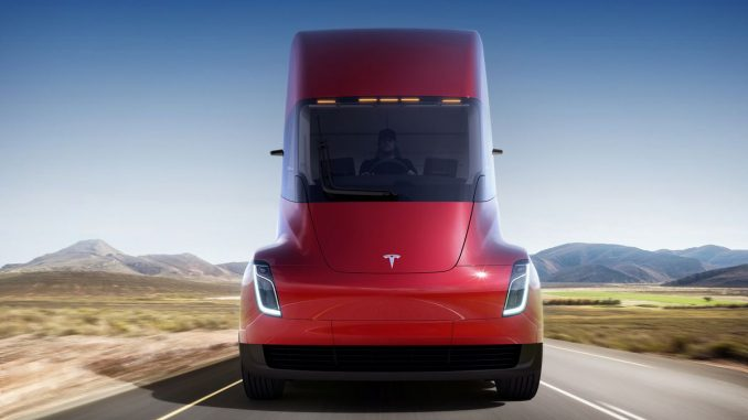 Tesla Semi from front