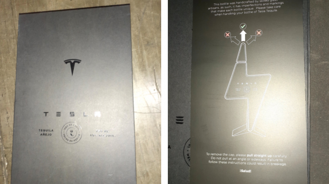 Tesla Tequila packaging featured