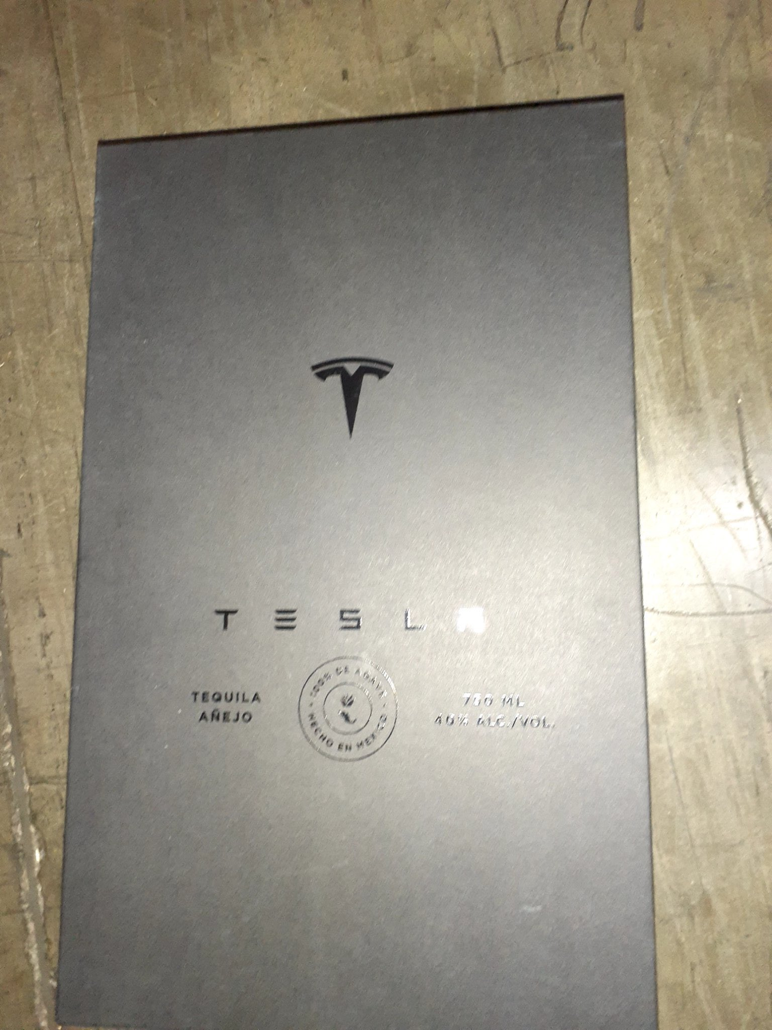 Tesla Tequila packaging front