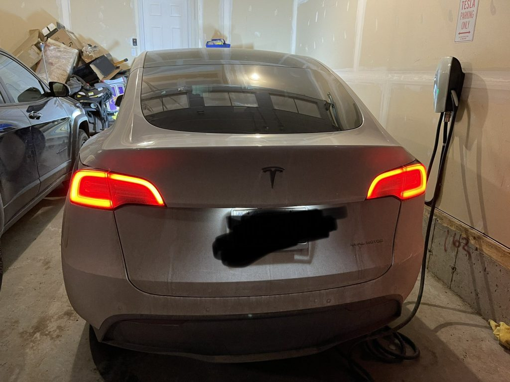 Model Y taillights after exit