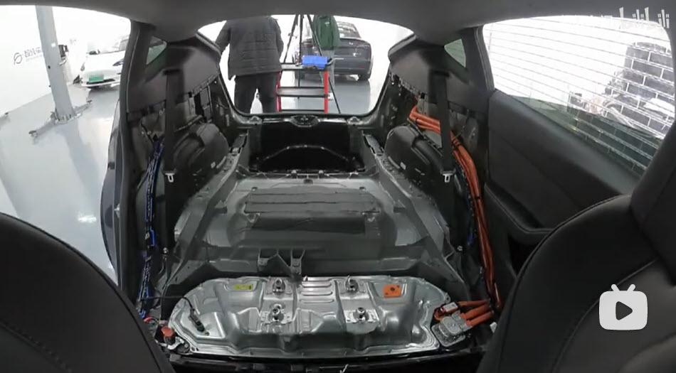 China Model Y underbody from front